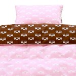 Junior linen - pink/brown deer