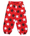 ON SALE Maxomorra Organic sweat pants - Red with stars
