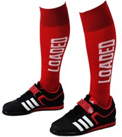 Deadlift Socks: Red