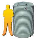 2500L Corrugated Poly Water Tank