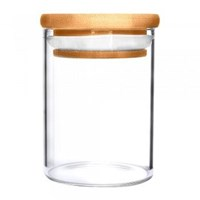 18oz Glass Jar w/ Wooden Lid