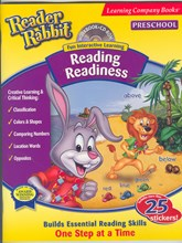 Reader Rabbit Preschool Reading Readiness workbook & cd-rom