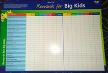 Rewards for big kids/preschoolers educational wall chart
