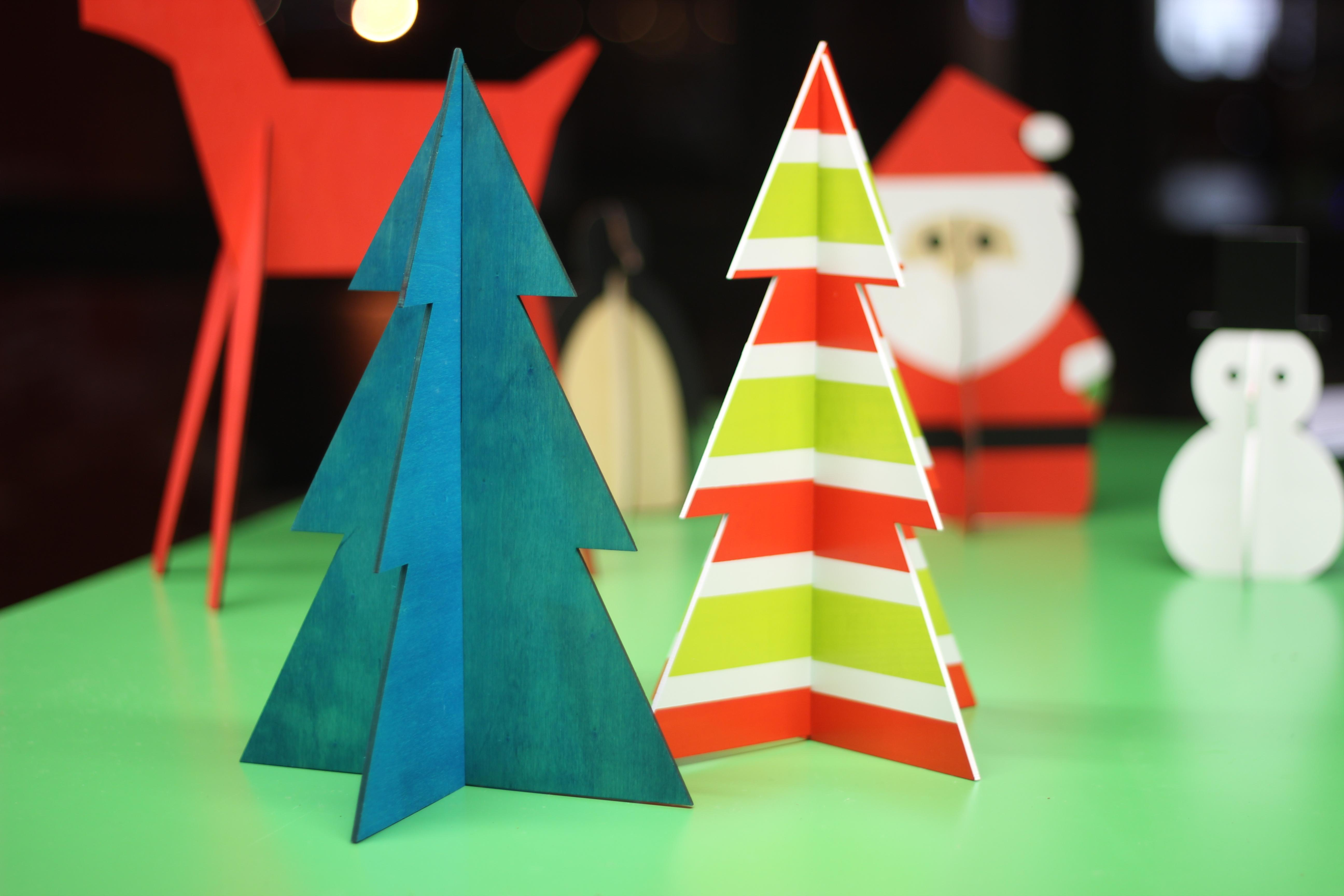 Wooden Christmas Tree Display