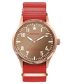 POP-PILOT® Seaside Blossoms<br/>40mm VCE Edition Red Strap Watch