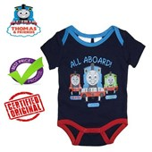 All Aboard - Original & Authentic Thomas & Friends Romper - Baby Boys Clothes