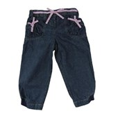 Capri In Bows Jeans Pants - Baby Girls Clothes