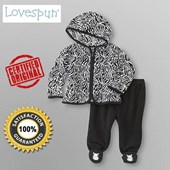 Lovespun® Infant Girl's Hoodie Jacket & Footed Pants 2 Pieces Set - Baby Girls & Baby Boys Clothes