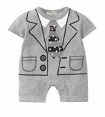Star of The Night 1 Piece Onesie/Romper - Formal/Wedding Attire - Baby Boy Clothes