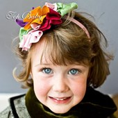 Bouquet Of Colours Head Band - Baby Girls Clothes