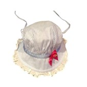 Red Ribbon Inspired Baby Girls Sun Hat / Cap - Baby Clothes