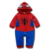 Spiderman Costume 2 Pcs Outfit (With Spiderhood & Full Legs) - Baby Boy Clothes