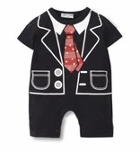 Little Gentleman 1 Piece Onesie/Romper - Formal/Wedding Attire - Baby Boy Clothes