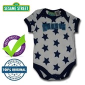 Cookie Monster In Stars - 123 Sesame Street® Body Suit Romper - Licensed & Genuine