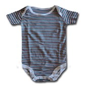 Pink On Blue Adam & Eve Baby Wear Tag Free Romper - Baby Boys & Baby Girls Clothes