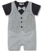 Tuxedo On The Go 1 Piece Romper - Formal/Wedding Attire - Baby Boy Clothes