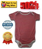 Red Stripes Adam & Eve Baby Wear Tag Free Romper - Baby Boys Clothes