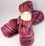 Misti Alpaca Hand Paint Sock Yarn Fingering red/blue shades