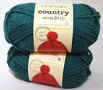 Cleckheaton country aran 10 ply Teal