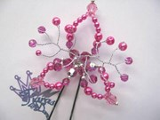 Hair Pin - Lily - Fuschia/Rose