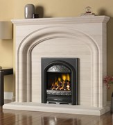 PureGlow Wychbury Limestone Portugese Limestone Package with Electric Fire