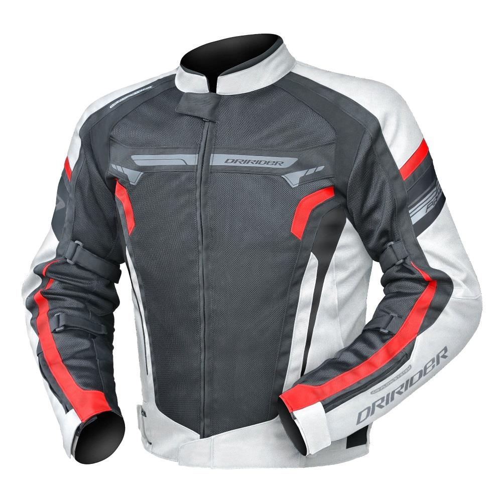 DRIRIDER Air Ride 4 Textile Jacket - Black/White/Red ...