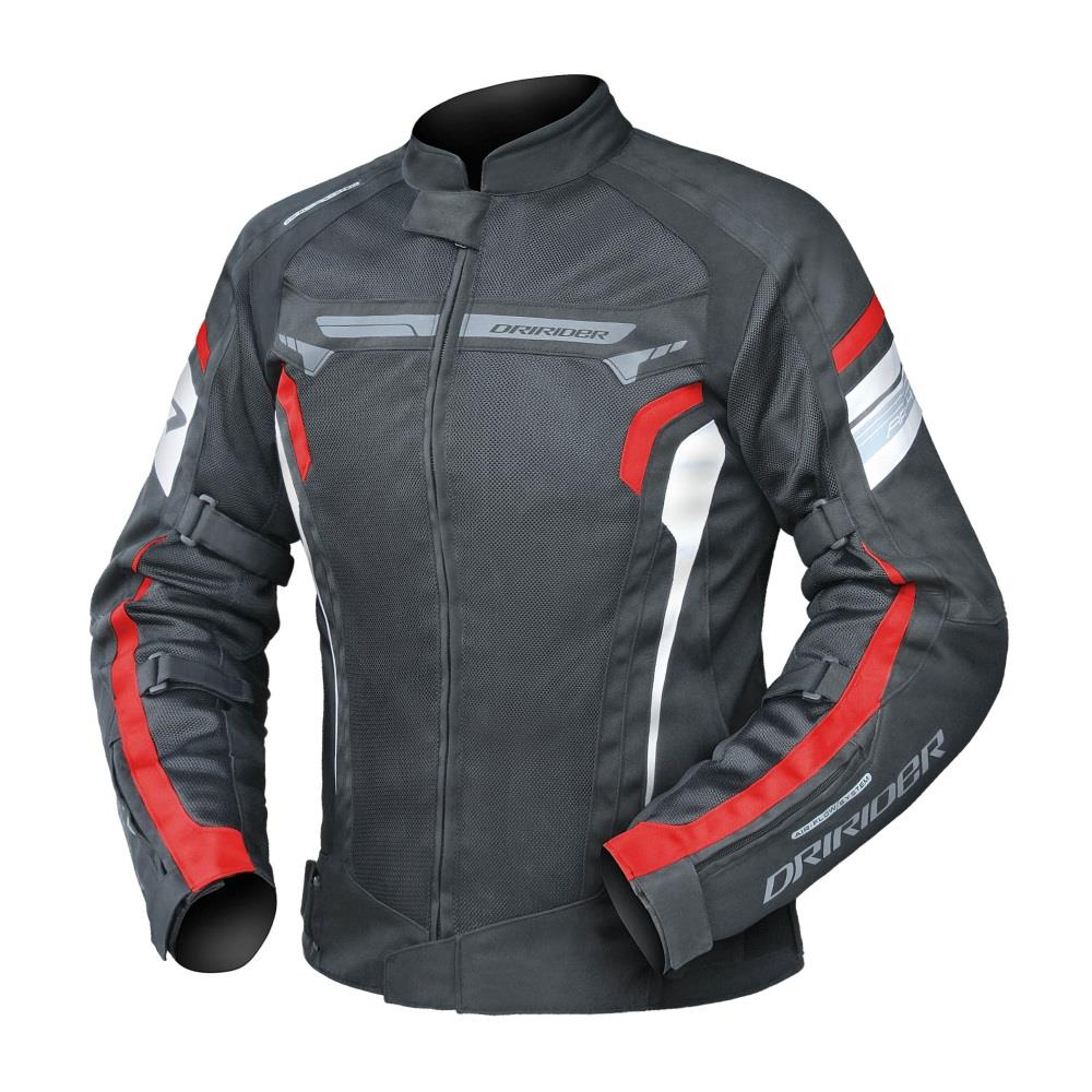 DRIRIDER Air Ride 4 Ladies Textile Jacket - Black/Red ...