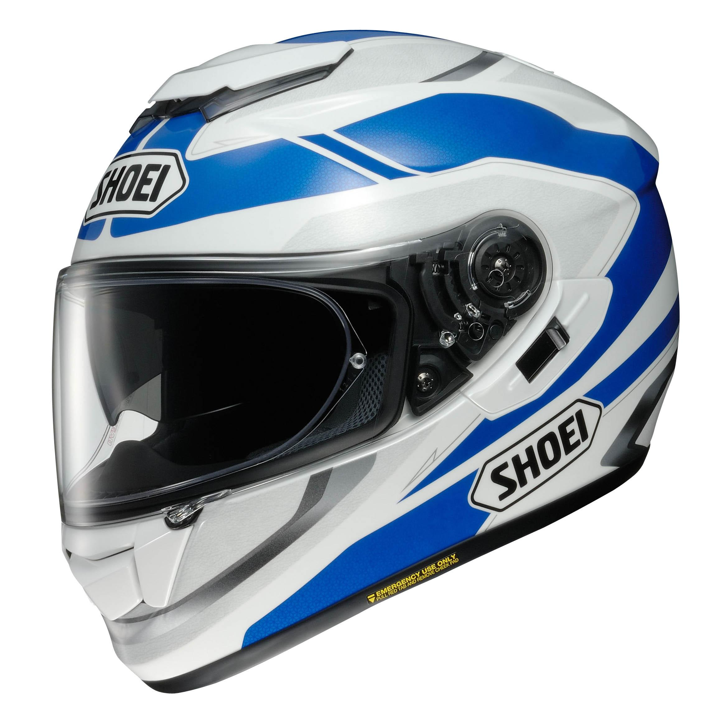shoei gt air swayer tc 2 helmet blue white online. Black Bedroom Furniture Sets. Home Design Ideas