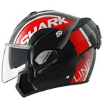 Shark Evoline 3 Drop ECE Helmet - Black/Red