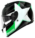 (SHARK CLEARANCE) - Shark Speed-R Texas Helmet - Black/Green