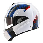 Shark Evoline 3 Drop ECE Helmet - White/Blue/Red
