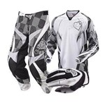 MSR Starlet Ladies Pant, Jersey and Glove Combo - Black / White
