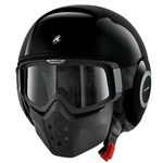 (SHARK CLEARANCE) - Shark Raw Blank Helmet - Black