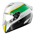(SHARK CLEARANCE) - Shark Race-R Pro Carbon Racing Divisoin Helmet - White/Green/Yellow
