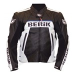 (CLEARANCE SALE) - Berik CE Team Leather Jacket - Black/White