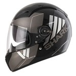 (CLEARANCE SALE) - Shark Vision-R Series 2 Cartney Helmet - Black/Antracite Chrome