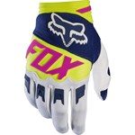 (CLEARANCE SALE) - FOX 2017 DIRTPAW RACE GLOVES - NAVY / WHITE