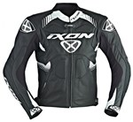 Ixon Voltage Air perforated Leather Jacket (Black/White)
