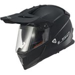 (CLEARANCE) LS2 PIONEER MX436 ECE DUAL SPORTS HELMET - MATT BLACK