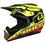 (CLEARANCE) RXT KWALA NANO MX KIDS YELLOW/RED HELMET