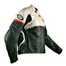 (CLEARANCE SALE) - RYNUS CHARISMA LEATHER JACKET BLACK/WHITE