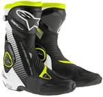 Alpinestars SMX Plus Boots - Black/White/Fluro Yellow