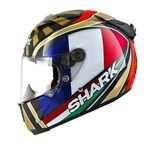 Shark Race-R Pro Carbon ZARCO WORLD CHAMPION ECE Helmet - Carbon/Gold/White