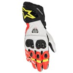 ALPINESTARS GP PRO R2 GLOVES - BLACK / WHITE / RED / FLURO