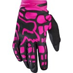 (CLEARANCE SALE) - FOX 2017 DIRTPAW WOMENS GLOVES - BLACK / PINK
