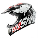 (SHARK CLEARANCE) - SHARK SX2 Freak MX Helmet - Black/White/Red