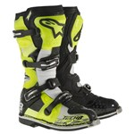 (CLEARANCE) Alpinestars Tech 8 RS Motocross Boots (Black/White/Yellow)