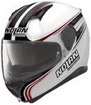 NOLAN N87 HELMET- RAPID FLAT WHITE/RED