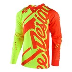 (CLEARANCE) TROY LEE DESIGNS 2018 SE AIR SHADOW JERSEY YELLOW/ORANGE