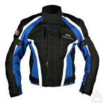 (EVERYDAY SPECIAL) - KG AIRFORCE TEXTILE JACKET BLACK/BLUE Clearance Special